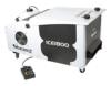 Beamz ICE1800 Eis-Nebelmaschine große Bodennebelmaschine für dichten Nebel über den Boden von Tanzflächen (1800W, 2,5 Liter, DMX, XLR, Fernbedienung) silber -